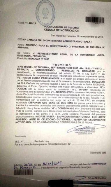 Fraude en Tucumán: más de 50 páginas de fundamentos