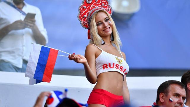 Natalya Nemchinova, la sensual fanática rusa que conquista el Mundial